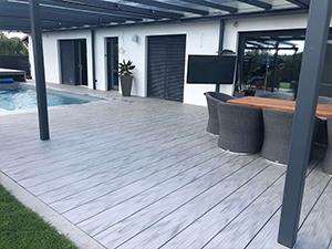 Terrasse aus WPC-Terrassendielen