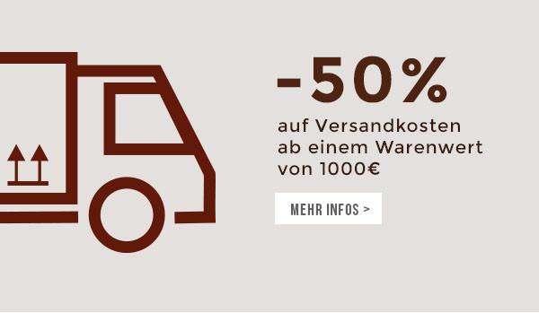 Jetzt 50% Versandkosten sparen!