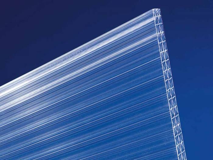 "Doppelstegplatten aus Polycarbonat, ""X16"", 16 mm, klar, noch stabiler durch 5-fach-Struktur, Longlife-Qualität_1"