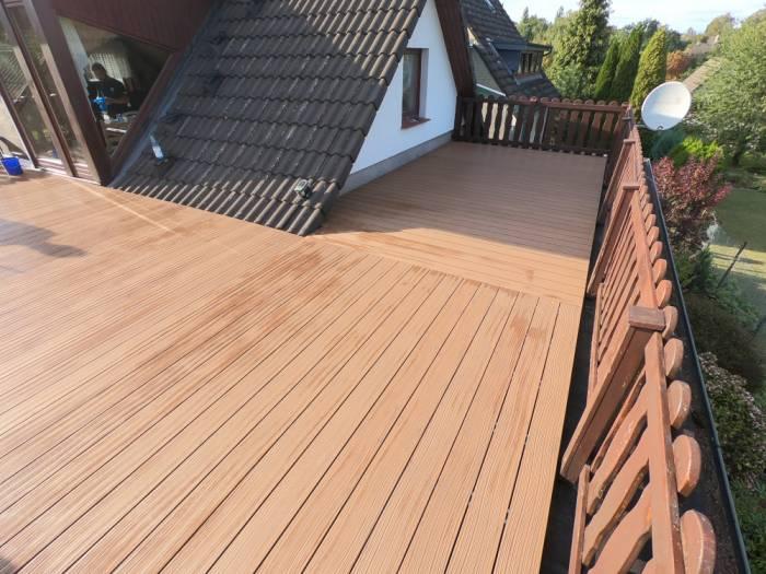 KAHRS WPC Terrassendielen, 20x140 mm, Massiv, Herbstbraun, Grob/Strukturiert_1