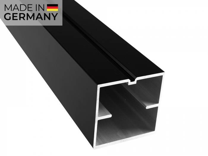 KAHRS Aluminium Unterkonstruktion, 60x60 mm, schwarz, *x-strong* für weite Abstände_1