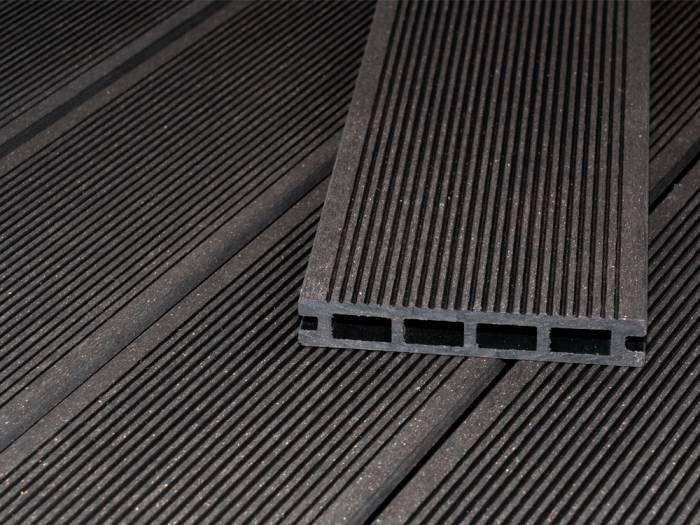 KAHRS WPC Terrassendielen LIGHT, 20x120 mm, Anthrazit, fein/glatt, geschliffen, Hohlkammer_1