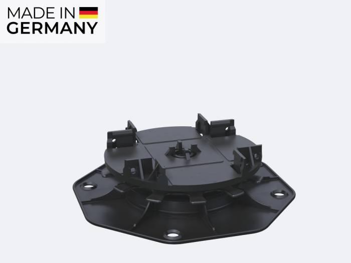 Karle & Rubner TERRACON Terrassenlager, CLIP, Polypropylen schwarz, Verstellbarkeit 2,5-4,0 cm_1