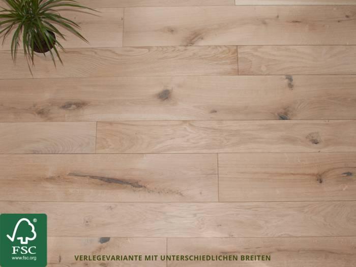 KAHRS Massivholzdielen, Eiche FSC 100%, 20x147 mm, geschliffen, schwarz gespachtelt, roh --- Systemverpackung ---_1