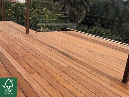 Tigerwood FSC 100% Terrassendielen, 21x90 mm, KD, glatt/glatt_1