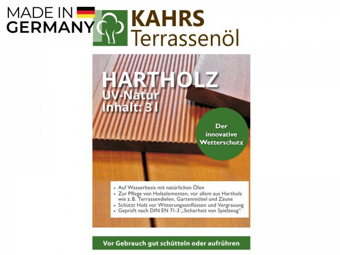 KAHRS Terrassenöl, Hartholzöl, UV Natur 3 L, PET-Kanister_1