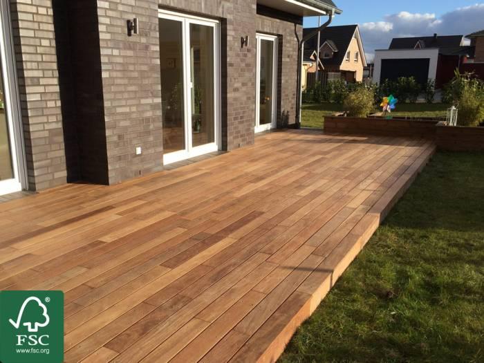 Cumaru FSC 100% Terrassendielen, 21x90 mm, KD, glatt/glatt, aus deutscher Produktion_1
