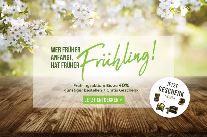 Frühlingsaktion - Jetzt bis zu 40% sparen!