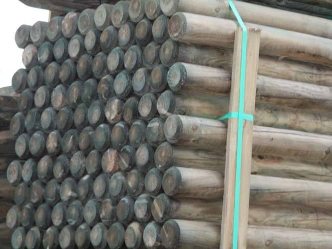 120 mm Fichten Palisaden zyl. gefräst, KDI, Länge 5,50 m_1