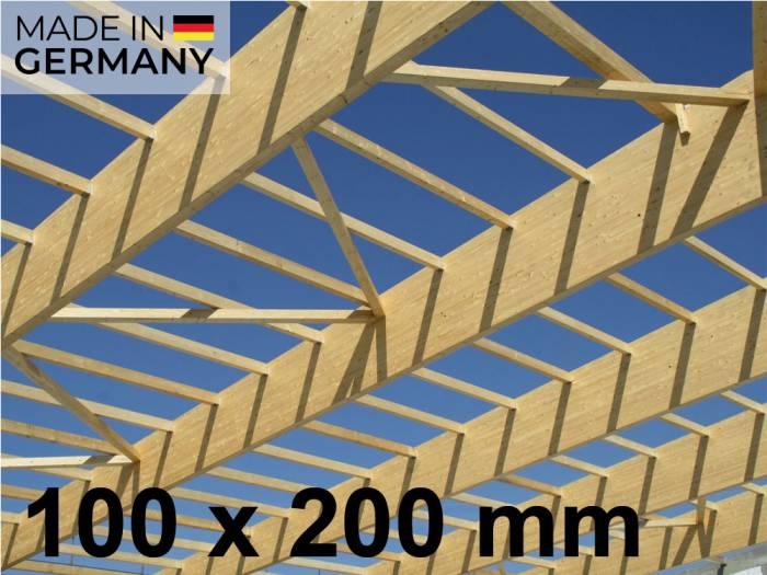 """100x200 mm Leimbinder Fichte """"GL24h""""  Sichtqualität, Lamellen 40 mm Fix gekappt ab 2,0 mtr Länge_1"""