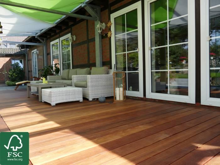 Cumaru FSC 100% Terrassendielen, 27x143 mm, KD, glatt/glatt, aus deutscher Produktion_1