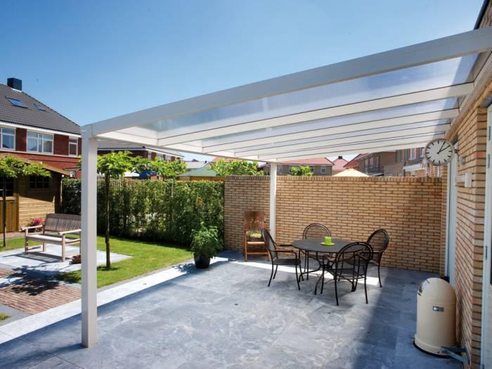 Trendline Alu Terrassenüberdachung B:3000 x T:4500 mm, 16mm Polycarbonatpl. klar Bausatz, pulverbeschichtet_1