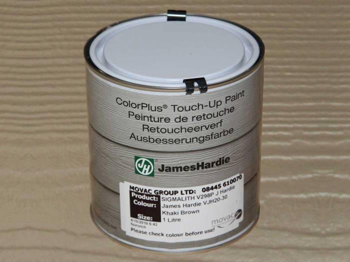 JamesHardie Touch-up Paint, für den Schnittkantenanstrich, JH 20-30 Khaki Braun, 1L 1